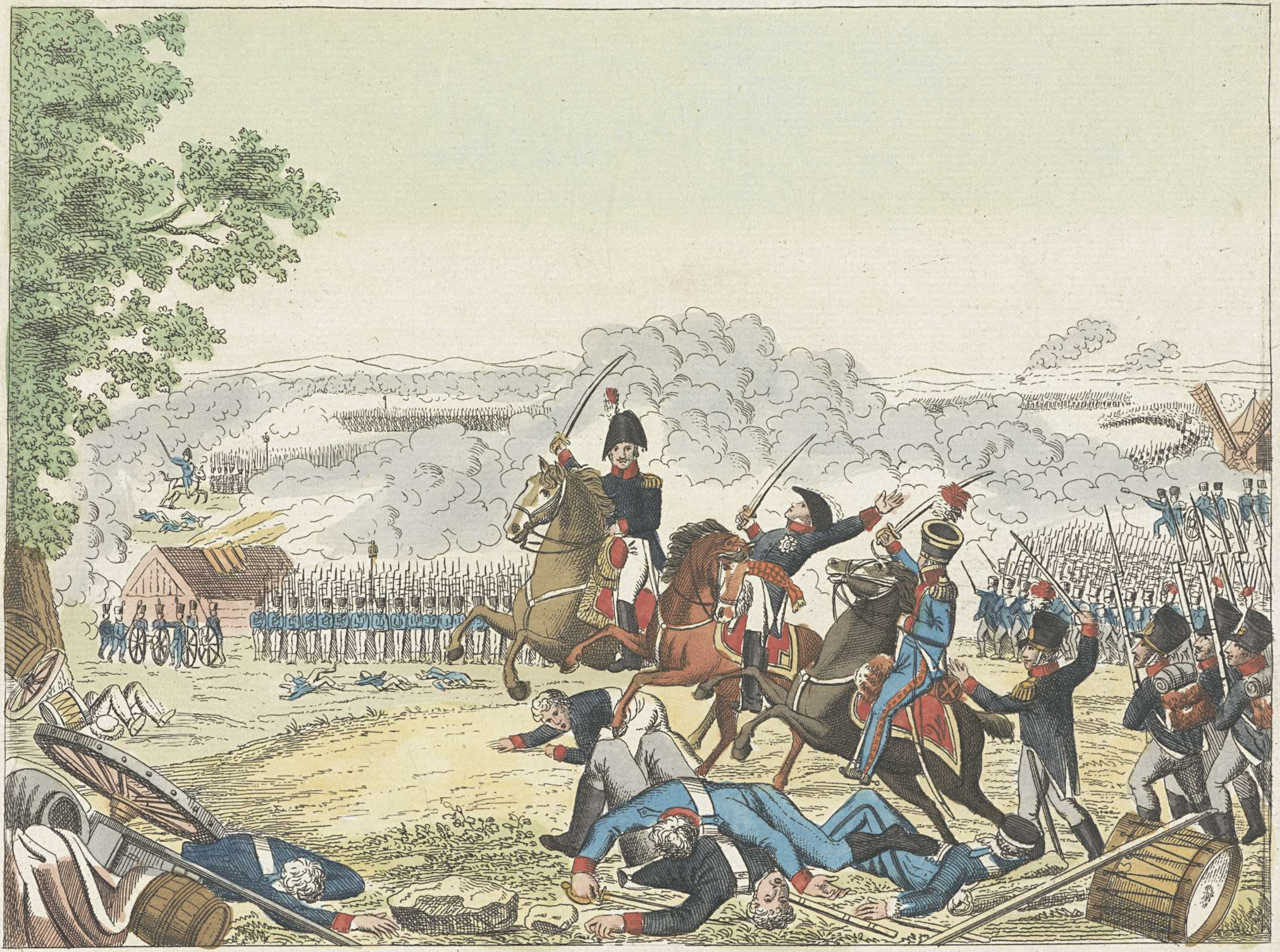 Prince of Orange wounded in Battle of Waterloo 1815