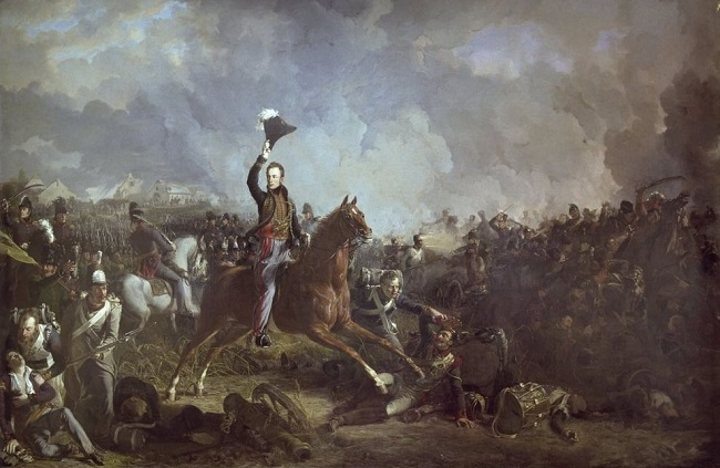 Prince of Orange at Battle of Quatre Bras 1815