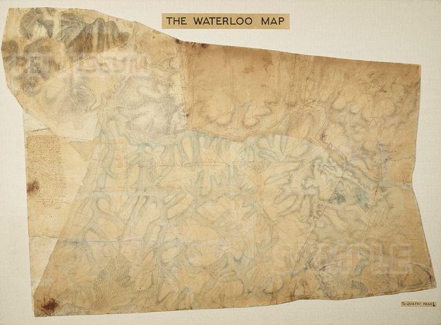 Waterloo map British engineers 1815